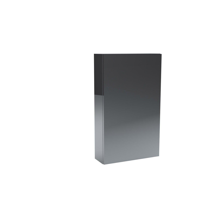 Armoire de toilette l.45 cm, imitation métal, Remix | Leroy Merlin