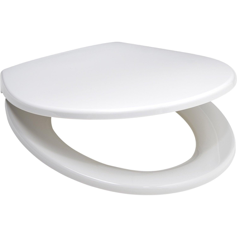 abattant frein de chute d clipsable blanc polypropyl ne. Black Bedroom Furniture Sets. Home Design Ideas