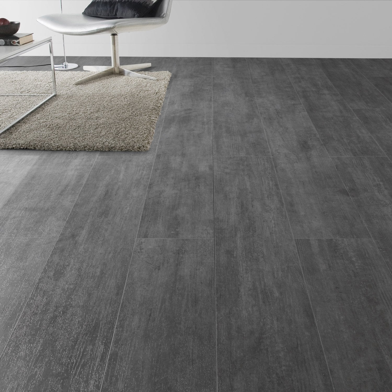 Lame pvc clipsable gris nolita grey senso lock gerflor for Salon jardin pvc gris