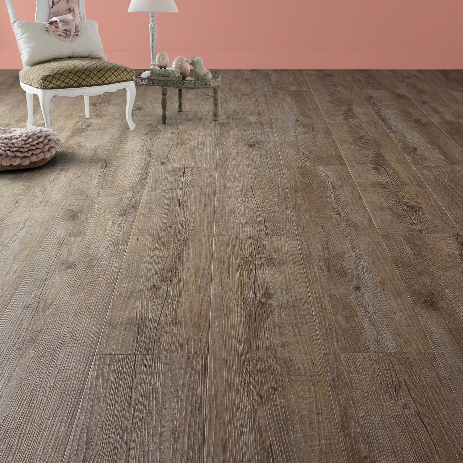 Lame pvc adh sive gris pecan senso rustic gerflor leroy for Carrelage clipsable leroy merlin