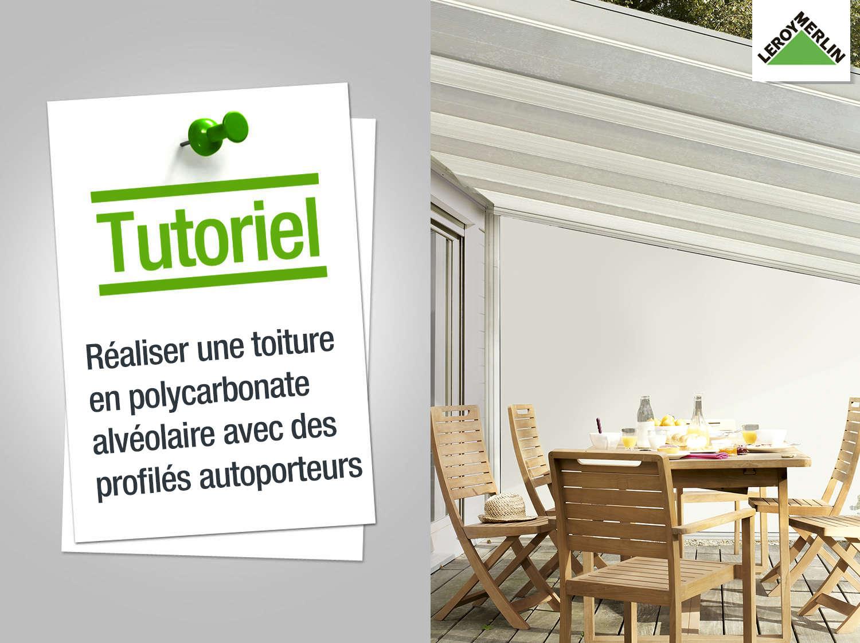 aliser un toit en panneaux de polycarbonate. Black Bedroom Furniture Sets. Home Design Ideas