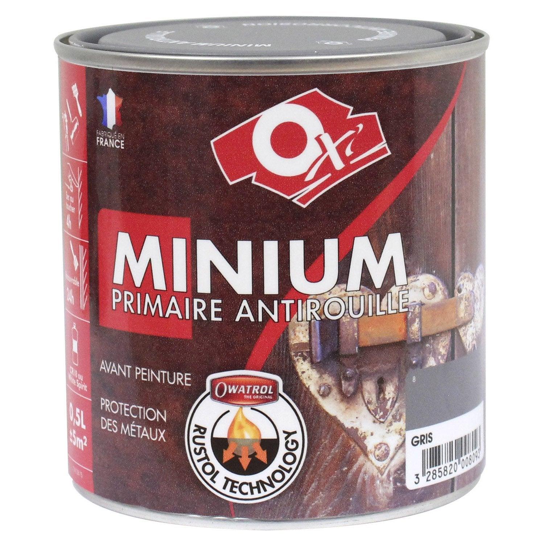 Primaire antirouille ext rieur int rieur minium gris 0 for Antirouille maison