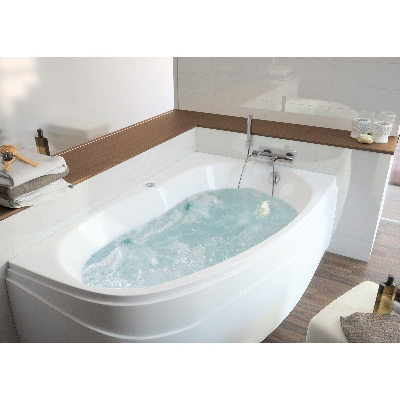 Baignoire baln o avec tablier asym trique cm allibert balneomix - Tablier salle de bain ...