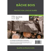 Bâche de protection en pe rectangulaire 600 x 150 cm marron pe