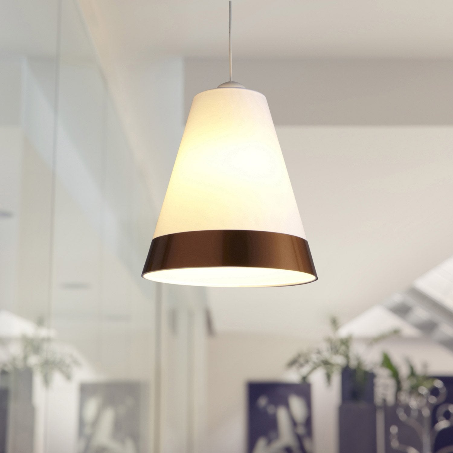 suspension copper lilly metropolight blanc 60 watts. Black Bedroom Furniture Sets. Home Design Ideas