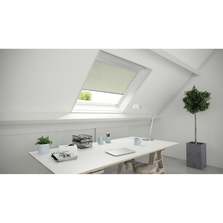 store fen tre de toit occultant blanc ivoire n 5 blanc ivoire n 5 inspire leroy merlin. Black Bedroom Furniture Sets. Home Design Ideas