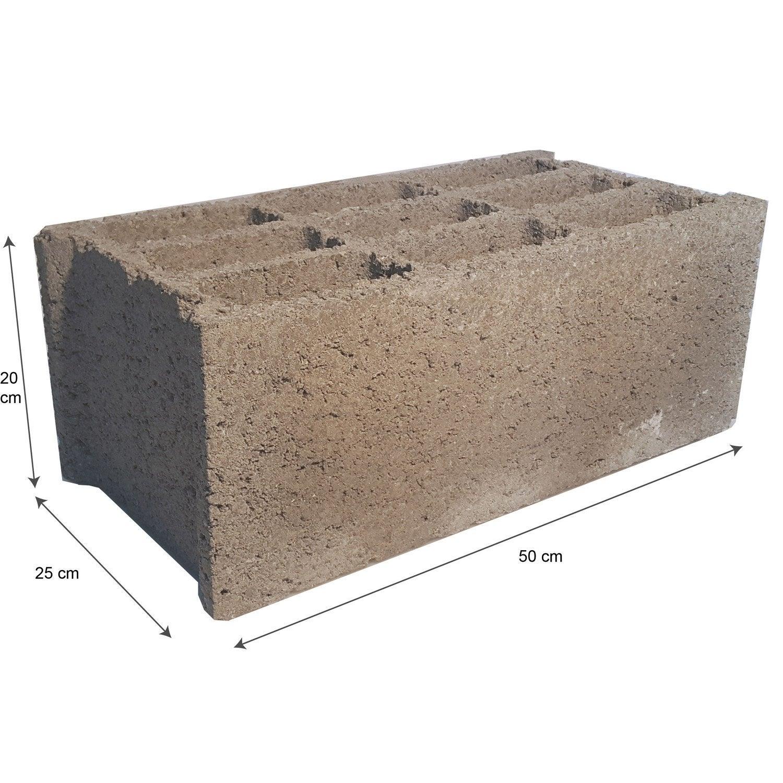 parpaing creux 25x20x50 cm leroy merlin. Black Bedroom Furniture Sets. Home Design Ideas