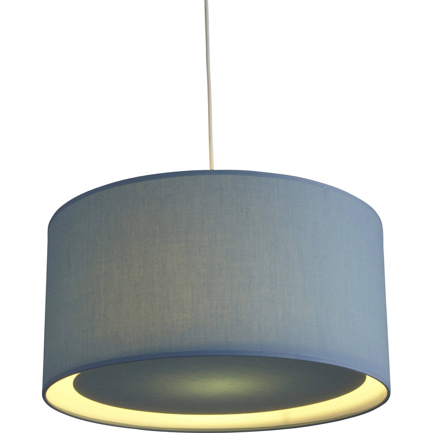 Suspension e27 scandinave essentiel coton bleu baltique n for Suspension bleu