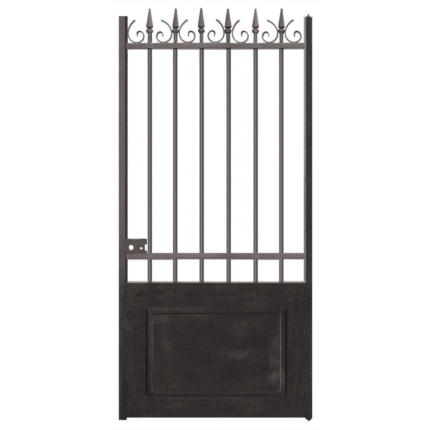 Portillon battant en fer noir elena x cm for Portillon de jardin fer forge