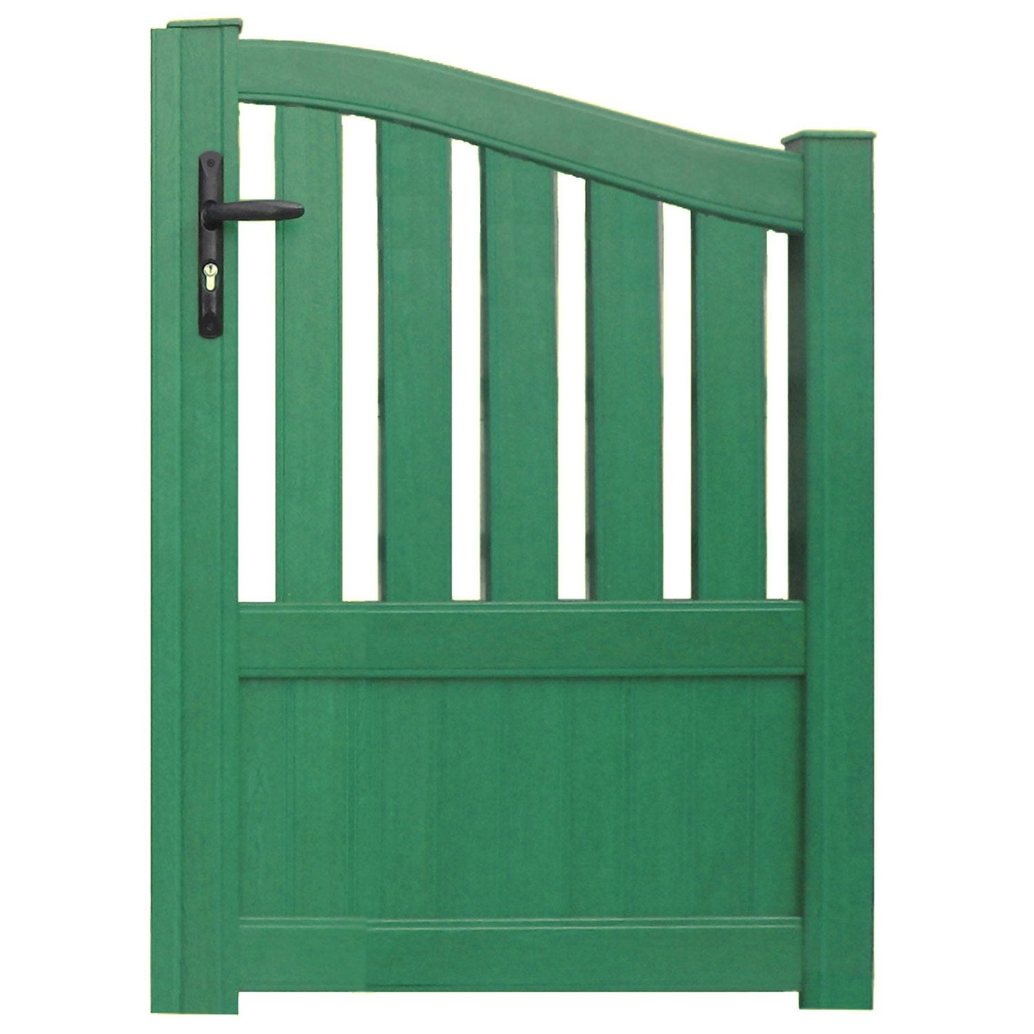 Portillon battant en aluminium moellan x cm for Portillon de jardin pvc