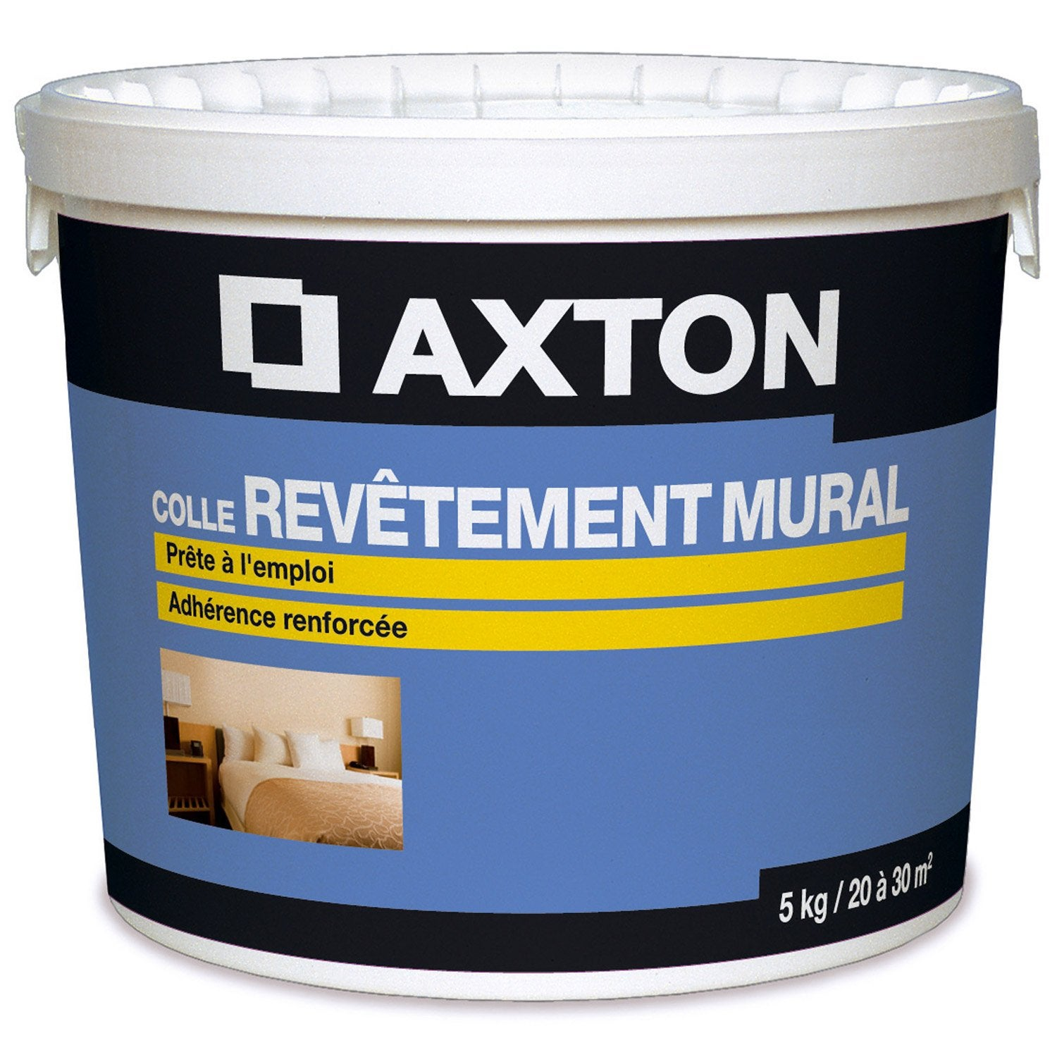 Colle pour rev tement mural peindre axton 5 kg leroy for Revetement mural leroy merlin