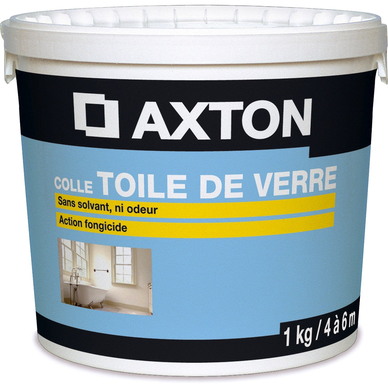 Colle toile de verre pr te l 39 emploi axton 1 kg leroy for Prix colle carrelage leroy merlin
