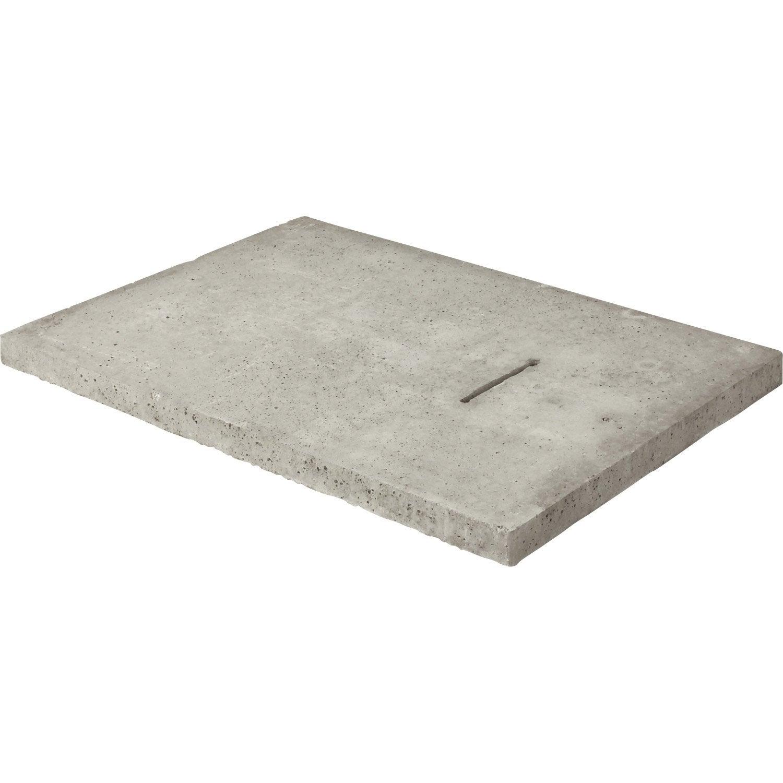 Couvercle b ton gris legouez x cm leroy merlin - Palissade beton leroy merlin ...