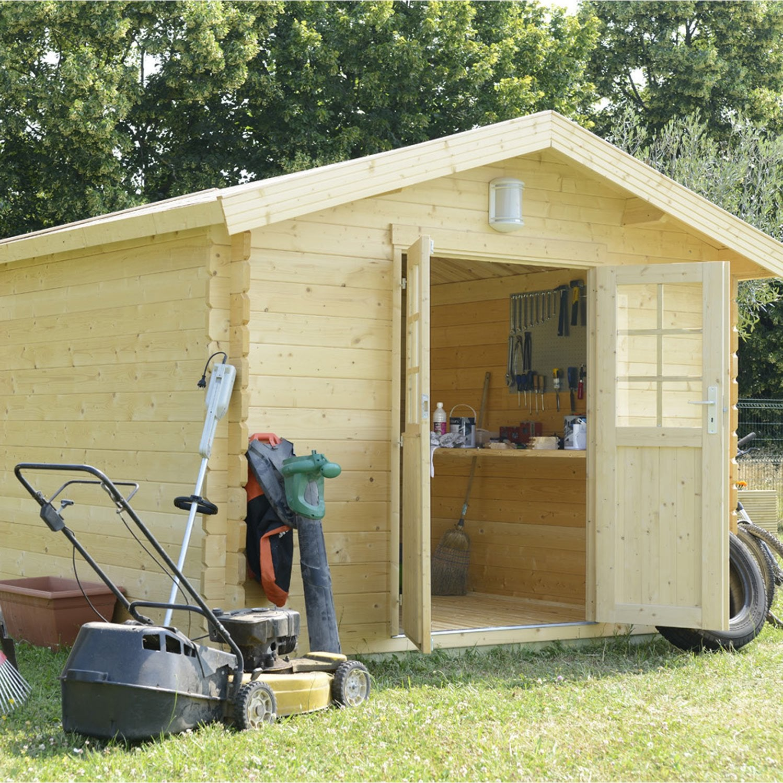 Abri de jardin en bois ismo naterial m p 34 mm - Abri de jardin en bois naterial tepsa ...