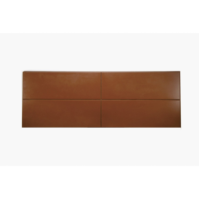 lot de 4 arr ts de mur gauche marron polyur thane thermart mm leroy merlin. Black Bedroom Furniture Sets. Home Design Ideas