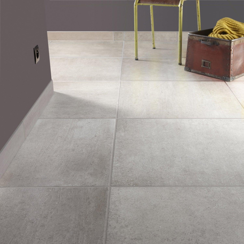 Carrelage sol et mur gris tain effet b ton touch x l for Carrelage 60 x 60 gris