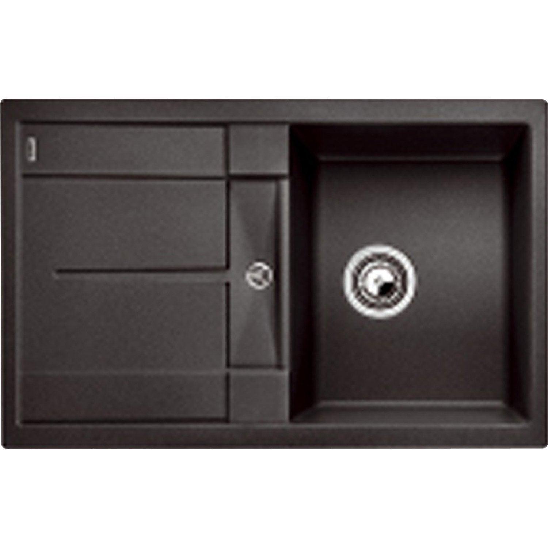 evier korona noir argenteuil 21. Black Bedroom Furniture Sets. Home Design Ideas