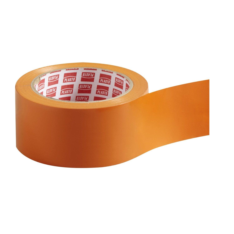 rouleau adh sif plasto multi usage orange 50 mm x 33 m leroy merlin. Black Bedroom Furniture Sets. Home Design Ideas