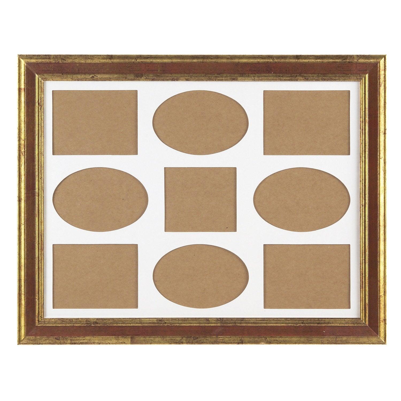 cadre multivue ga a 30 x 40 cm ocre leroy merlin. Black Bedroom Furniture Sets. Home Design Ideas