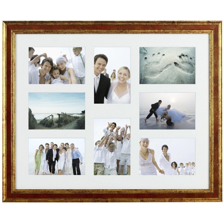 Cadre multivue ga a 40 x 50 cm ocre leroy merlin - Cadre photo 40x50 ...