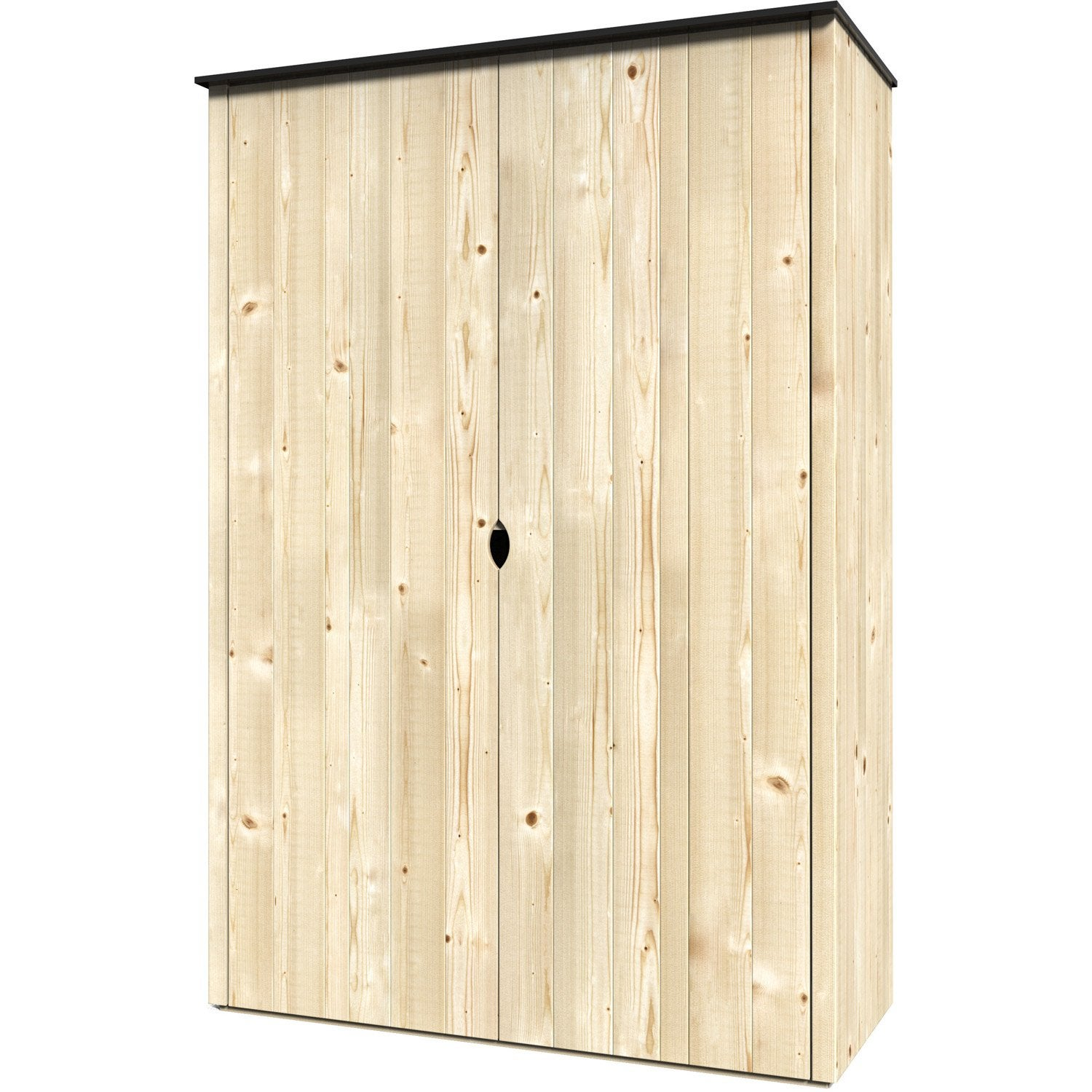 armoire de jardin bois vertigo naturelle x h 1 8 x cm leroy merlin. Black Bedroom Furniture Sets. Home Design Ideas