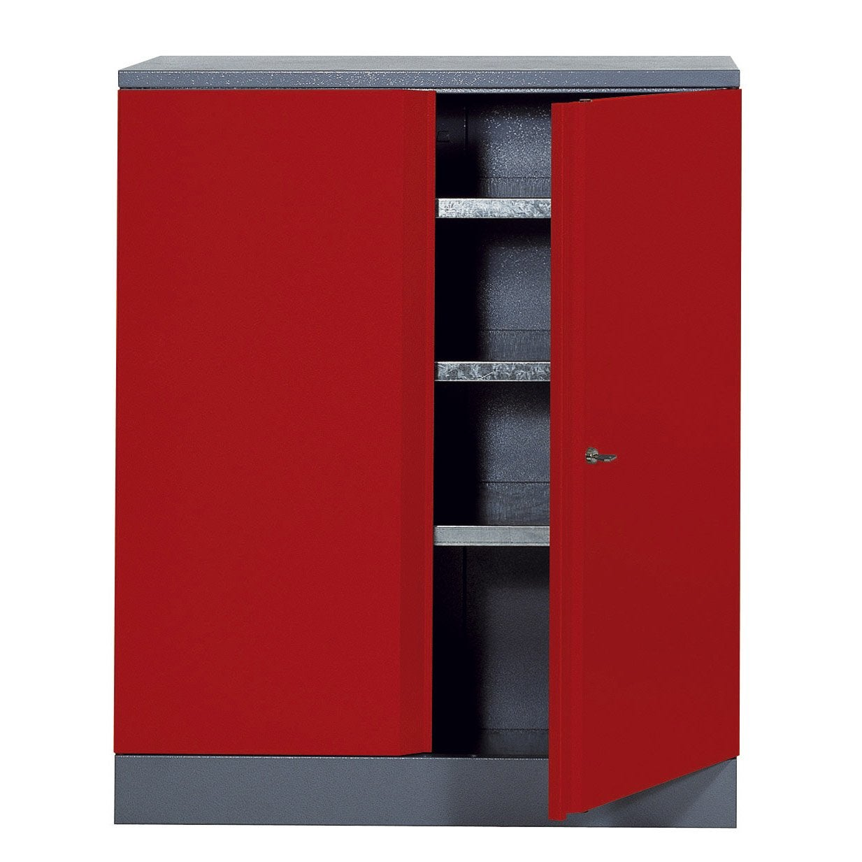 armoire de rangement en m tal rouge kupper 91 cm 1 porte leroy merlin. Black Bedroom Furniture Sets. Home Design Ideas