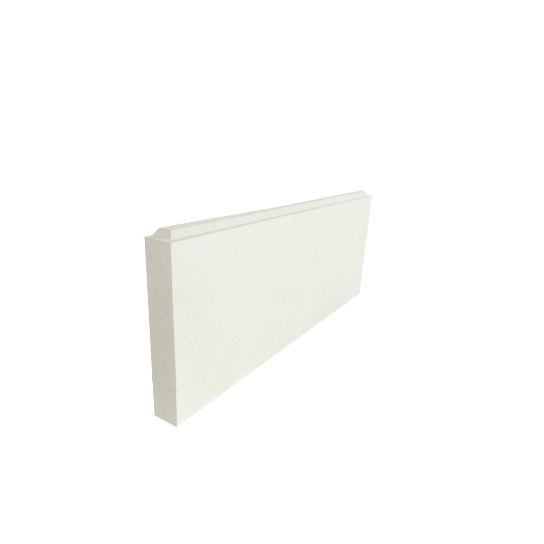 lot de 3 arr ts de mur gauche blanc polyur thane thermart classic mm leroy merlin. Black Bedroom Furniture Sets. Home Design Ideas