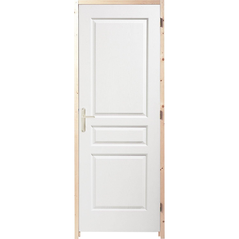 Bloc porte postform postform x cm poussant for Taille porte interieure