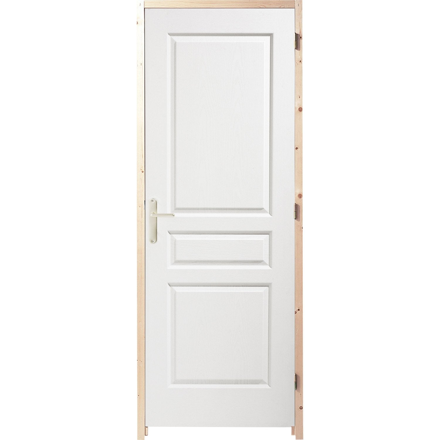 Bloc porte postform postform x cm poussant droit leroy merlin for Porte interieur renovation