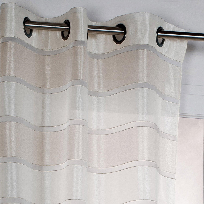 rideaux sur mesure leroy merlin rideau voilage vitrage et. Black Bedroom Furniture Sets. Home Design Ideas
