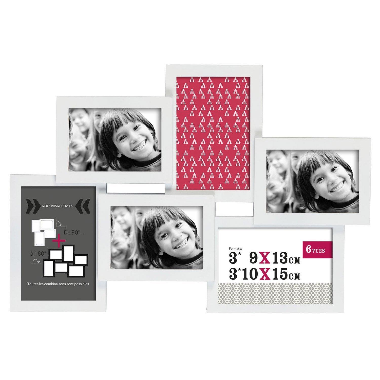 cadre multivue d troit 9 x 13 cm blanc leroy merlin. Black Bedroom Furniture Sets. Home Design Ideas