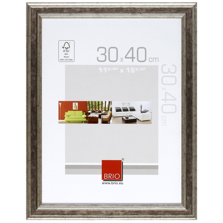 cadre ga a 30 x 40 cm argent leroy merlin. Black Bedroom Furniture Sets. Home Design Ideas