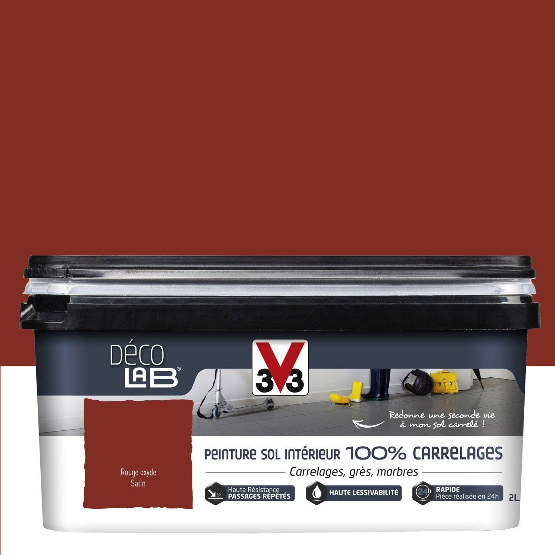 peinture sol int 233 rieur decolab sol 100 carrelage v33 oxyd 233 2 l leroy merlin