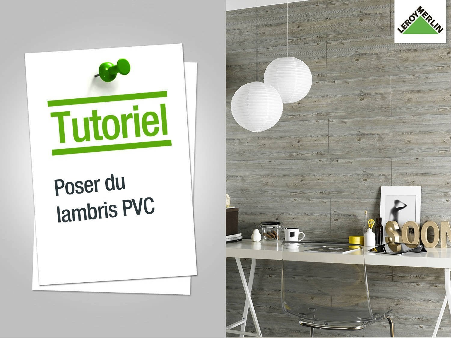 comment poser du lambris pvc ? | leroy merlin - Pose Lambris Pvc Salle De Bain