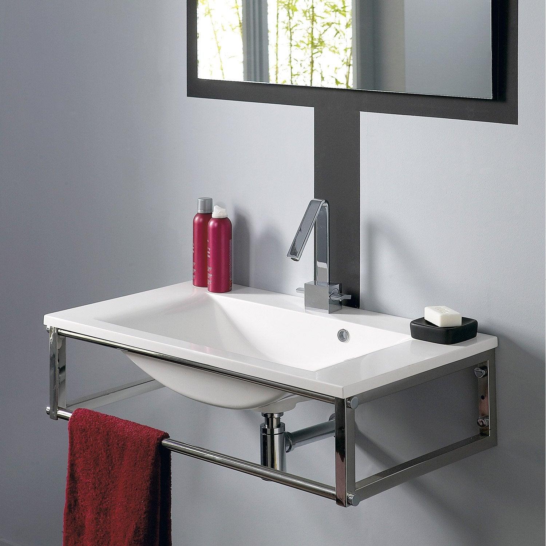 plan vasque et miroir manhattan blanc leroy merlin. Black Bedroom Furniture Sets. Home Design Ideas