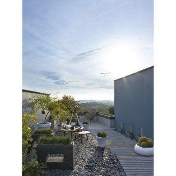 jardini re en fibre l 27 x h 52 x l 75cm coloris gris anthracite leroy merlin. Black Bedroom Furniture Sets. Home Design Ideas