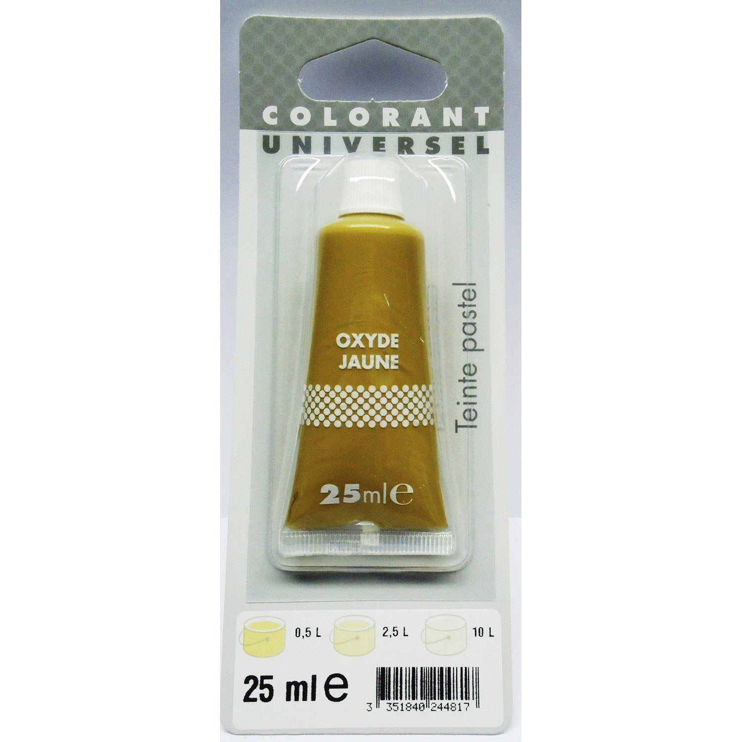 colorant universel oxyde jaune 25 ml - Colorant Peinture