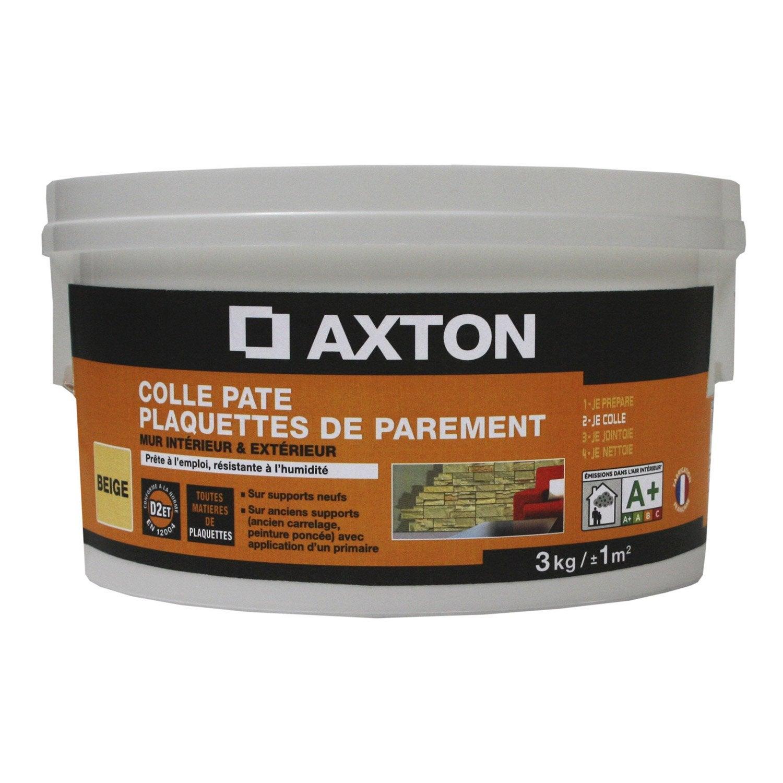 colle en p te pour plaquettes de parement axton beige 3 kg leroy merlin. Black Bedroom Furniture Sets. Home Design Ideas