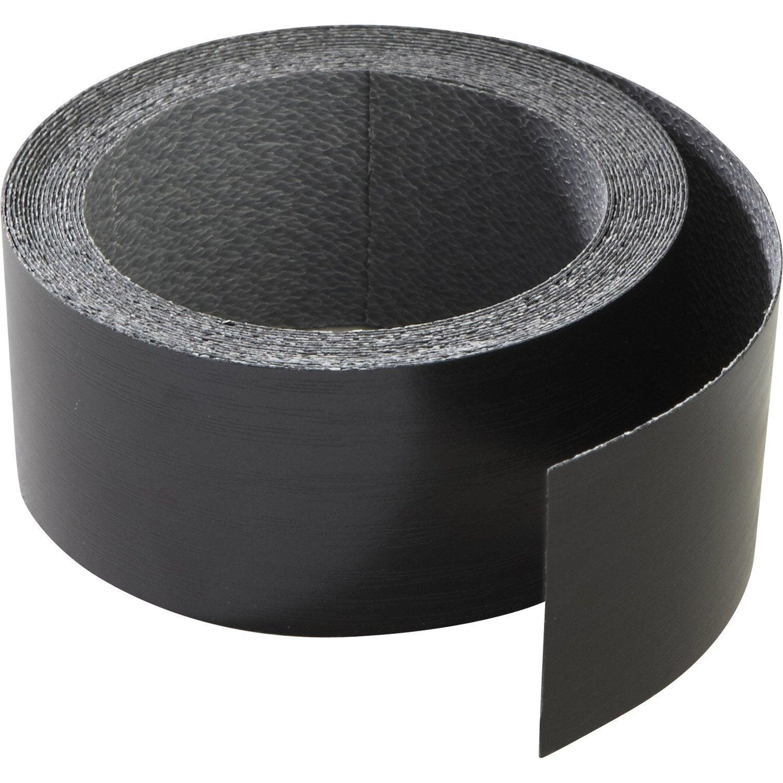 chant de plan de travail stratifi effet m tal noir mat l. Black Bedroom Furniture Sets. Home Design Ideas