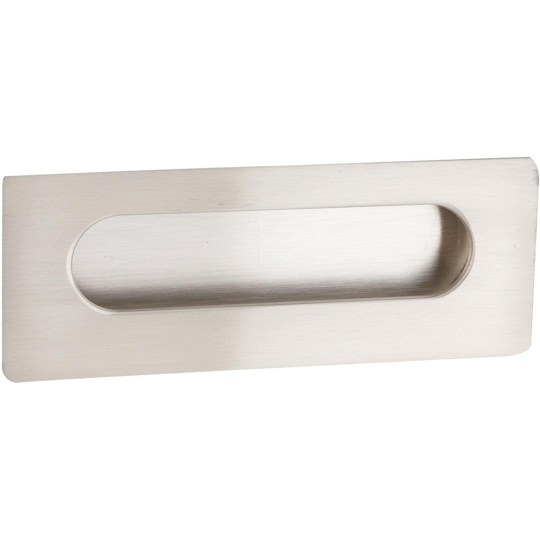 poign e de meuble rectangle zamak bross entraxe 96 mm leroy merlin. Black Bedroom Furniture Sets. Home Design Ideas