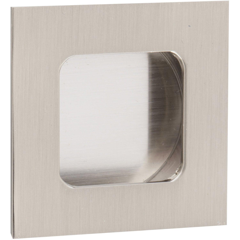 poign e de meuble carr zamak nickel entraxe 35 mm. Black Bedroom Furniture Sets. Home Design Ideas