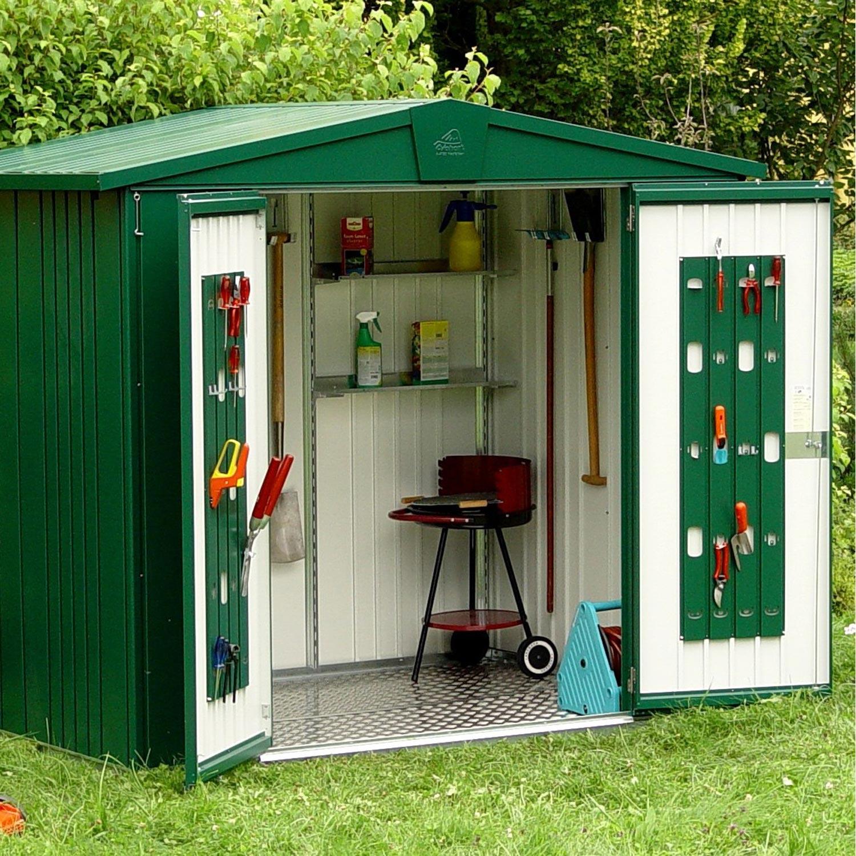 abri de jardin m tal europa t3 m ep mm leroy. Black Bedroom Furniture Sets. Home Design Ideas