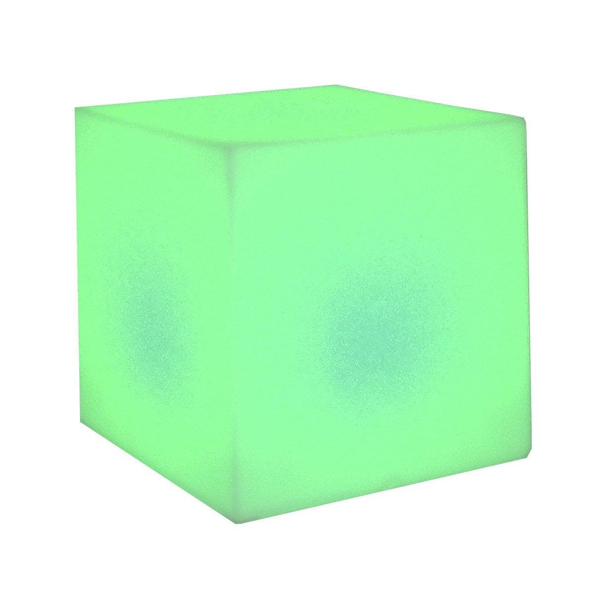 Cube d coratif ext rieur cuby 32 cm led int gr e couleurs for Cube leroy merlin