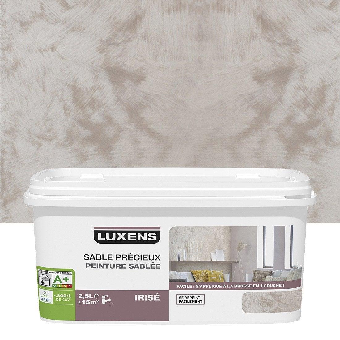 Peinture effet sable pr cieux luxens brun taupe 6 2 5 - Peinture a la chaux leroy merlin ...