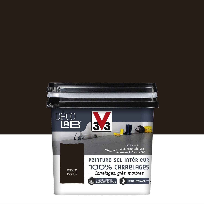 Peinture sol int rieur decolab sol 100 carrelage v33 for Peinture inox pour carrelage