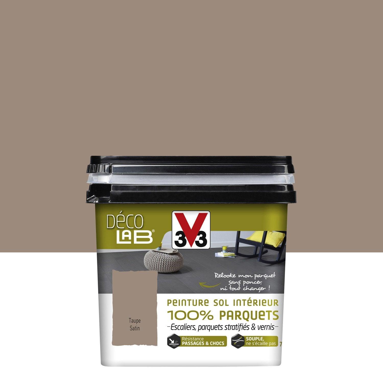 Peinture sol intérieur Decolab sol 100% parquet V33, taupe, 2.5 l ...