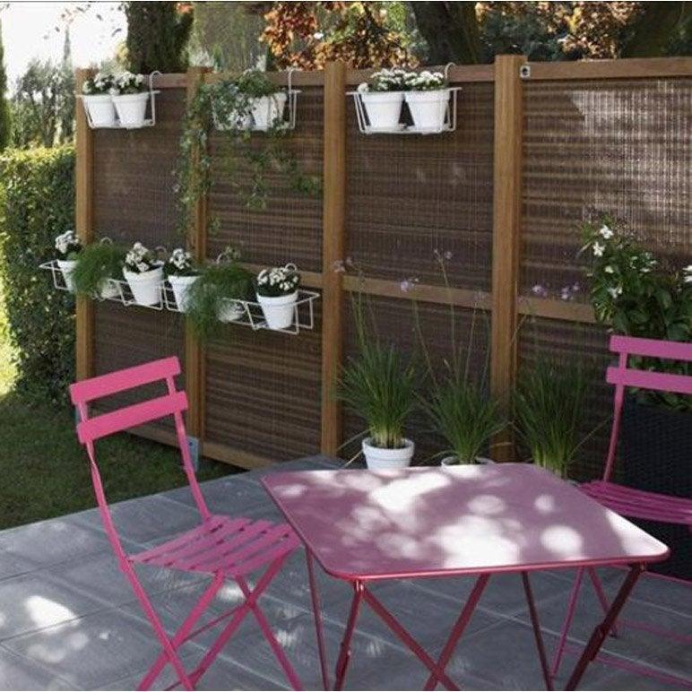 salon de jardin bistro fermob rose 2 personnes leroy merlin. Black Bedroom Furniture Sets. Home Design Ideas