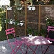 Salon de jardin Bistro FERMOB rose, 2 personnes