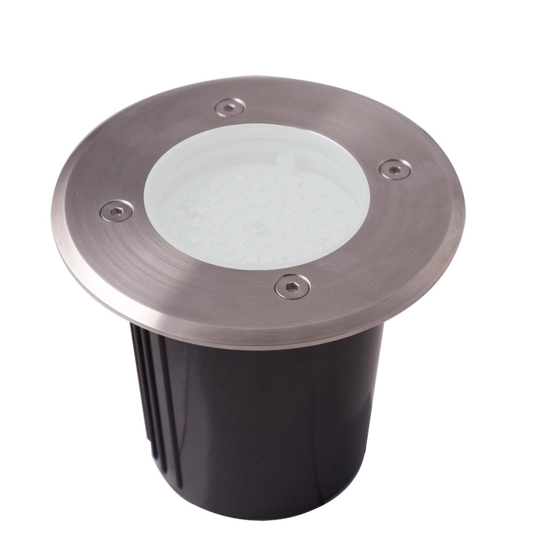 spot encastrer ext rieur diam 12 cm acier inoxydable lumihome leroy merlin. Black Bedroom Furniture Sets. Home Design Ideas