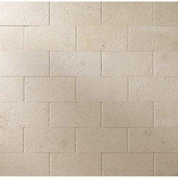 plaquette de parement chatillonnais en pierre naturelle beige leroy merlin. Black Bedroom Furniture Sets. Home Design Ideas